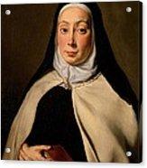 Cignani Carlo, Portrait Of A Nun, 17th Acrylic Print