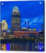 Cincinnati At Sunset Acrylic Print