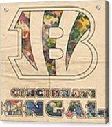 Cincinnati Bengals Logo Vintage Acrylic Print