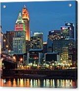 Cincinnati Blue Hour Acrylic Print