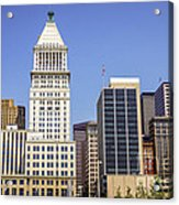 Cincinnati Downtown City Buildings Business District Acrylic Print by Paul Velgos
