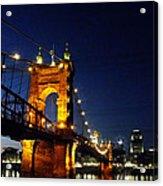 Cincinnati In Lights Acrylic Print