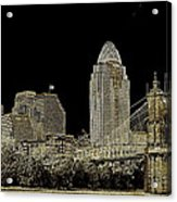The Queen City Cincinnati Ohio Acrylic Print