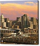 Cincinnati Over The Bridge Acrylic Print