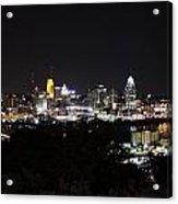 Cincinnati Skyline At Night From Devou Park Acrylic Print