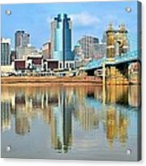 Cincinnati Skyline Reflects Acrylic Print