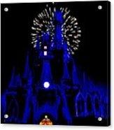 Cinderella Castle Fireworks Acrylic Print