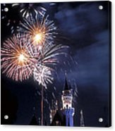 Cinderella Castle Fireworks Iconic Fairy-tale Fortress Fantasyland Acrylic Print