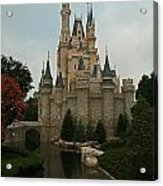 Cinderella's Castle Reflected Acrylic Print