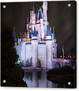 Cinderella's Castle Reflection Acrylic Print