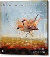 Cinnamon Sparrows Acrylic Print