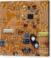 Circiruit Board Macro Acrylic Print