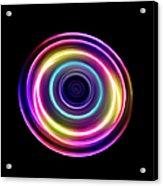 Circle Light Trails Acrylic Print