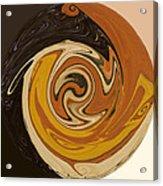 Circle Of Browns Acrylic Print