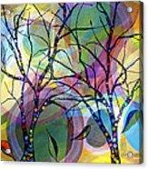 Circle Trees Acrylic Print