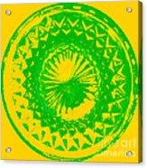 Circle Yellow Acrylic Print