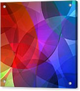 Circles In Colorful Abstract Acrylic Print