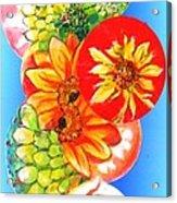 Circles Of Flowers Acrylic Print