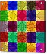 Circles Over Squares Acrylic Print