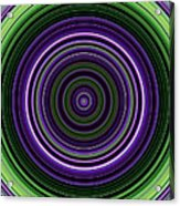 Circular Concentric Stripes In Multiple Colors Acrylic Print