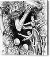 Circus Acrobats Acrylic Print
