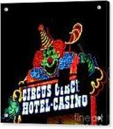Circus Circus Sign Vegas Acrylic Print