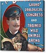 Circus Program, C1901 Acrylic Print