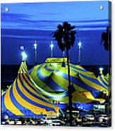 Circus Tent Swirls Of Blue Yellow Original Fine Art Photography Print  Acrylic Print