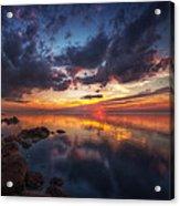 Cirrus Reflections Acrylic Print by Stuart Deacon