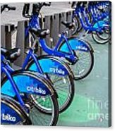 Citibike Rentals Nyc Acrylic Print