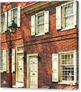 Cities - Philadelphia Brownstone Acrylic Print