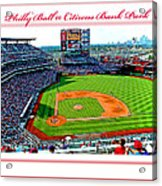 Citizens Bank Park Phillies Baseball Poster Image Acrylic Print by A Gurmankin