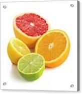 Citrus Fruit Halves Acrylic Print