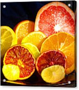 Citrus Season Acrylic Print by Anastasia Savage Ealy