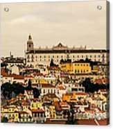 City And Cathedral Lisbon Portugal Acrylic Print