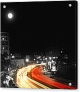 City And The Moon Acrylic Print