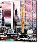 City And Water Acrylic Print