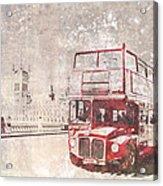 City-art London Red Buses II Acrylic Print by Melanie Viola