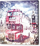 City-art London Red Buses On Westminster Bridge Acrylic Print