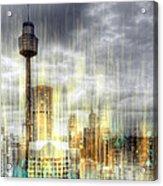 City-art Sydney Rainfall Acrylic Print