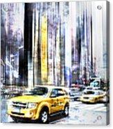 City-art Times Square II Acrylic Print by Melanie Viola