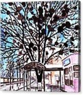 City Art Watercolor Painting Acrylic Print