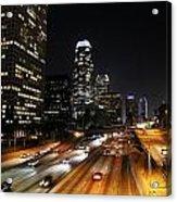 City At Night - Los Angeles Acrylic Print