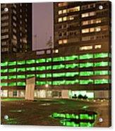 City At Night Urban Abstract Acrylic Print