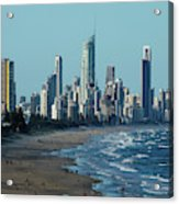 City At The Waterfront, Surfers Acrylic Print