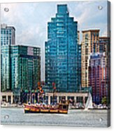 City - Baltimore Md - Harbor East  Acrylic Print