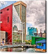 City - Baltimore Md - Harbor Place - Future City  Acrylic Print