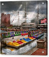 City - Baltimore Md - Modern Maryland Acrylic Print by Mike Savad