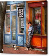 City - Baltimore Md - Waiting By Joe's Bike Shop  Acrylic Print by Mike Savad