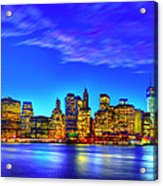 City Blue Acrylic Print